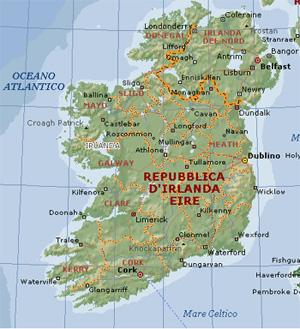 L irlanda ci ritenta a vestirsi di paradiso per gli - Ci mappa da colorare pagina di mappa ...